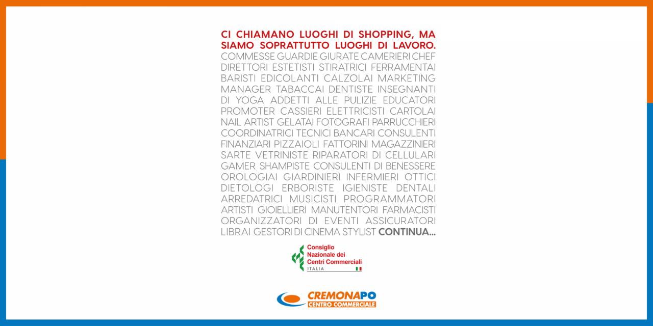 Consiglio Nazionale dei Centri Commerciali | Events | CremonaPo