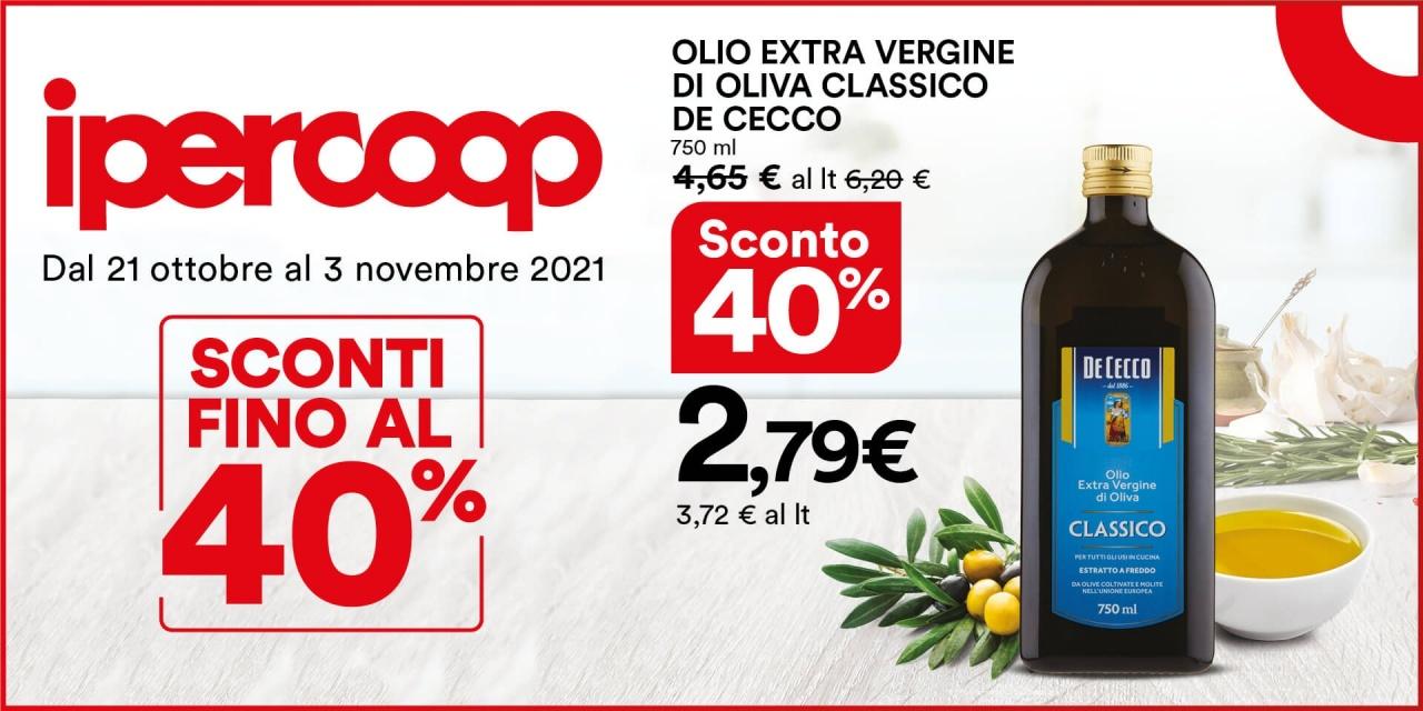 Olio Extra vergine di Oliva Classico De Cecco | Offerte | CremonaPo